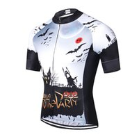 Weimostar Halloween Pro Team Cycling Jersey Men Short Sleeve Road MTB Bike Top Abbigliamento da bicicletta traspirante