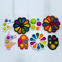 Fidget Brinquedos Bolha Dedo Floral Prensa De Relevo Fingertip Toy Stress Educacional Criativo Crianças Bebê Presente Sensor Sensor FY