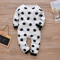 Jumpsuits 2021 Children Clothes Ins Spring Baby For Boys And Girls Cotton Rompers With Dot Long Sleeve Kids Jumpsuit Clothing