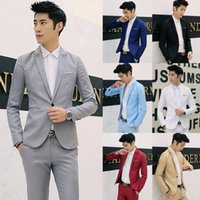 2019 Hot Brand Clothing Blazer Men s tuxedo grooms suitsTuxedo Dress Men One Button Male Solid Slim Fit Costume Homme Suit Jackets