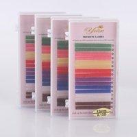 Großhandel Mix 8 Farbe Einzelne Wimpernverlängerung Weiche Natürliche Faux Nerz Regenbogen Makeup Schönheit Bühne Styling Lash Bulk Falsche Wimpern
