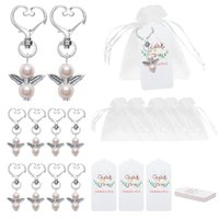 Angel Favor Keychains Thank You Tags Gift Bags Guest Return Favors Baby Shower Bridal Shower Wedding Gifts 1295 V2
