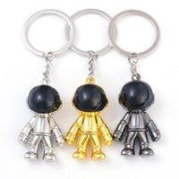 أزياء معدنية رائد فضاء كيرينغ رجل فاصل سلسلة المفاتيح الأزواج صديقها المجوهرات هدايا مفتاح سلسلة 3 ألوان حقيبة الملحقات