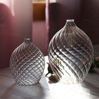 Kreative Wohnkultur Kleine kegelförmige Vase Transparente Glasblume Vasen für getrocknete Flaschenbarrestaurenzeichen