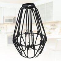 Винтажная подвесная лампа мода железа проволока легкая клетка DIY оттенки для домашнего бара кафе ресторан (черный) стена