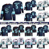 2021 Seattle Kraken Ice Hockey Jersey 5 Mark Giordano 31 Philipp Grubauer 37 Yanni Gourde 32th New Team Custom Mens Womens Youth Qualquer Nunber Qualquer nome Hóquei Jerseys