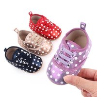 Baby First Walkers Shoes Toddler Sneakers Infant Girls Footwear Dots Leather Casual Newborn Shoe Moccasins Soft B6468