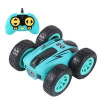 RC CAR 2.4G дрейф суток двухсторонний отказов трюк автомобиль рок гусеничный рулет автомобиль 360 градусов Flip дистанционного управления подарок для детей Q0726