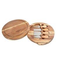 2021 سكاكين مقبض خشبي مجموعة الجبن سكين القطاعة شوكة سكوب كتر أدوات الطبخ مفيدة مع لوح قطع الخشب