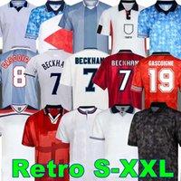 Blackout 1982 1994 1998 1998 2002 1996 Futebol Jerseys Home Kits Beckham Gascoigne Owen Gerard Camisa de Futebol Retro Barnes 1990 Fowler Hesque England