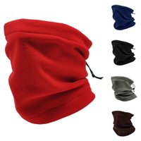 Invierno a prueba de viento bufandas de vellón tubo pañuelo bufanda máscara suave media cara cubierta snowboard cuello cálculo moda mujer hombres