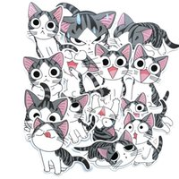 14 Sheets   Bag Cute Cartoon Children's Cheese Cat Luggage Suitcase Laptop Refrigerator Animal Sticker J0R0