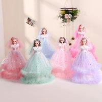 40cm DIY Barbie doll double wedding dress doll give girl gift Princess Game doll