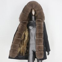 Faída de las mujeres Faux CXFS 2021 CUERCA REAL CAPA CAMPA LARGO A prueba de agua Parka Chaqueta de invierno Mujeres Mapache Natural Threar Warm Streetwear desmontable