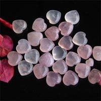 Природные розовые кварца в форме сердца розовый кристалл резной ладони влюбленности целебный драгоценный камень Любовник Гейфе Камень хрустальные сердца Gems 542 R2