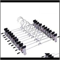 Kleiderbügel Racks 10 stücke Edelstahl Hosen Rack Clip Metall Anti-Rutsch Wäscheklammere Kleiderschrank Hosen Klemmkleidung Kleiderbügel für Balkon Ba O3emj