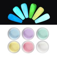 Nail Glitter Halloween Luminous Powder Extend Carved Pollen Colorful Pigment Dust For Professional Night Party Manicure Design