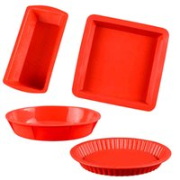 Silicone Pastry Cake Mold for Baking Forms Round Rectangle Bakery Mould Pizza Loaf Bread Tray Dessert Pan Tools