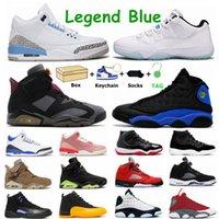 Hommes Jumpman Basketball Chaussures Racer Bleu 3s Voile 5S Électrique Green 6S 25e Anniversaire 11S Dark Concord 12S Hyper Royal 13s Sports Sports Extérieur Mens de femme
