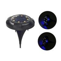 Güneş Lambaları Zemin Işıkları Açık Su Geçirmez 8 Paket LED Bahçe Disk Masa Peyzaj Aydınlatma Yard Merdiven Step Çim Patio Driveway Geçit Yolu Dekorasyon