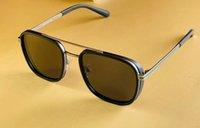 Attitude Square Sunglasses Matte Black Grey Lenses Sunnies 6165 Eyewear Accessories Men Fashion Sunglasses occhiali da sole uv400 protection with box