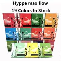 Hympe Max Flow 2000 Puffs E-Cigarets jetables Vape Vape Airflow Airflow Cigarette électronique de 900mah 6.0ml Dispositif 19 couleurs