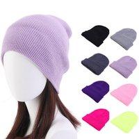 Kış Şapkalar Kadın Kasketleri Örme Katı Sevimli Şapka Sonbahar Kadın Bere Kapaklar Isıtıcı Bonnet Bayanlar Aksesuarları WLL647