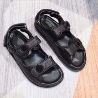 Designer Mulheres Sandálias de Alta Qualidade Mulheres Slides de Cristal Bezerro Couro Clássico Quilted Fashion Platform Sapatos Casuais Verão Slipper 35-42 com caixa e saco de poeira