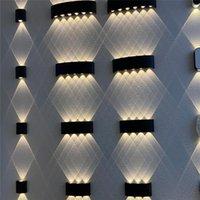 Double tête courbe LED lampe murale intérieure étanche étanche arc lumière pour escalier d'escalier couloir balcon décor salon