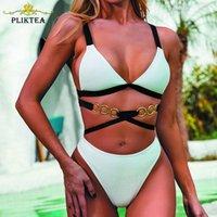 Pliktea Mayo Kadın Beachewear Bikini 2021 Yüzme Mayo Kadın Takım Elbise Yaz Sandy Beach Kadınlar Tayu