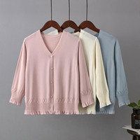Women's T-Shirt Ice Silk Knit Sweater Women Cardigan Thin Coat Short Air-conditioned Shirt 2021 Summer Style With Skirt Shawl Sunscreen