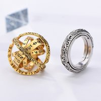 Astronomy ball ring German retro spherical inverted deformation universe ring couple creative ring wholesale