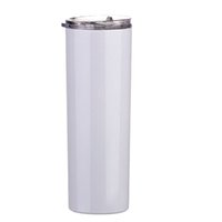 20oz White Painting Tumbler Blanks Straight Skinny Tumblers Christmas New-Year Drinkware Gift Cups DOM1061175
