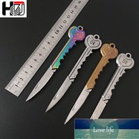 Ring Keychain Mini Key Knife Form Key Blade Box Package Folding Pocket Multi-tool Letter Opening Gadget Kit Camp Outdoor Factory price expert design Quality Latest