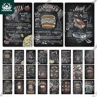 Putuo decoração alimentos sinal de metal lata placa vintage fast food estanho sinal decoração cartaz para cozinha café jantar bar hamburguer sinal
