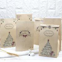 Presente de papel de Natal sacos Santa Claus Doces presentes Sacos Padrão Elk Presente Saco Xmas Party Decoração Saco de Armazenamento Domiciliar Gwe10445