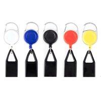 Аксессуары для курения Премиум красочные резиновые легкие оболочки корпус пластиковый световой клип к брюкам выдвижная катушка металла брелок HWF8094