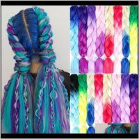 Women 24 Inch Crochet Box 100Gpc Ombre Jumbo Synthetic Braiding Extensions Headwear 2Ilmm Bulks Ktifp