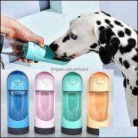 Kaseler Besleyiciler Malzemeleri Ev Gardenportable Su Şişesi Kase Waterer Pet Köpek Kabak Için Drinker Besleyici Seyahat Yavru İçme Açık Dispens