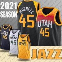 "Donovan 45 Mitchell Jersey Throwback John Karl Stockton Malone Jerseys Basketball Utah ""Jazz"" Trikots"