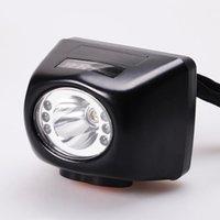 KL4.5LM LED Display Mining Headlamp atacado e varejos lâmpada de bateria de lítio lâmpada de mineiro 3w alto brilho impermeável farol industrial com carregador