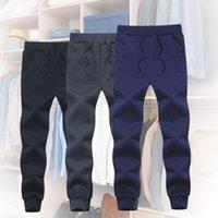 Hommes automne hiver extérieur pantalon boucherie cordon de survêtement sac de survêtement de jogger pantalon de coton peluche épaissie couleur solide couleur pantalon de survêtement