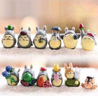 Мой сосед Totoro Toy Toy Hayao Miyazaki Фигурки мини-сад ПВХ детские украшения игрушки для мальчиков девушки 1-3 см 12шт / набор HHD7419