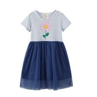 Girl's Dresses Arrival Princess Girls Party With Flowers Beading Selling Cotton Baby Birthday Gift Frocks