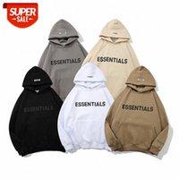 Страх Божий дуплекс свитер светоотражающий куртка прилив бренду писем капюшон # YK6R