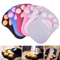 Mouse Pads & Wrist Rests Cute Pad Anime Soft Cat Rest Support Comfort Silicon Memory Foam Gaming Mousepad Mat