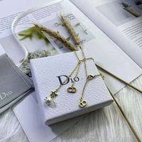 Dijia CD Pearl Tassel Серьги Женское Net Красное Ожерелье