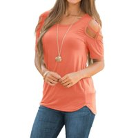Off Shoulder Top Women Summer Solid Color Short Sleeve Strappy Cold T-Shirt Ladies Fashion Tops Casual Blouses Women's