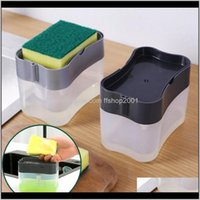 Housekeeping Organization Home Gardenkitchen Sponge Soap Dispenser Cleaning Liquid Box Creative Pump Manual Push Type Tool Aessories Storage