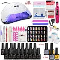 Nail Art Kits Set And Lamp Choose 18 12 Color Gel Polish Kit Electric Drill Machine Manicure Nails Decorations